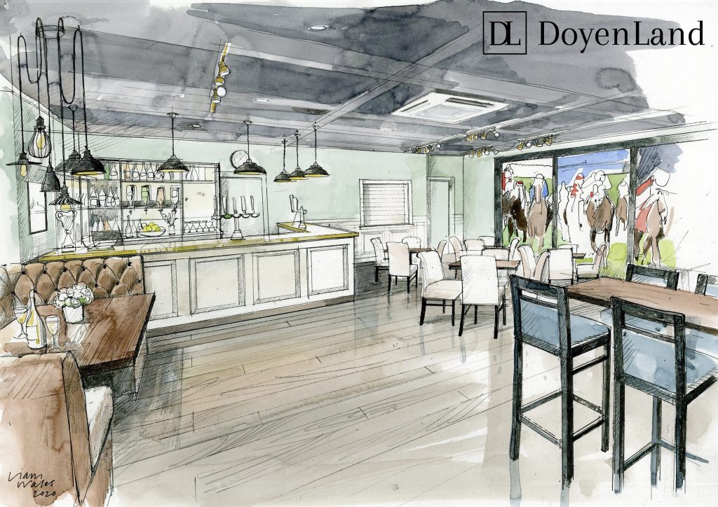 Artist impression of new café / bar rennovation
