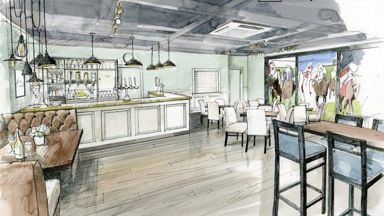 Artist impression of new café / bar rennovation